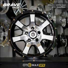Velg Mobil Brave (LGS0615) Ring 15 Black Polish