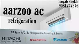 AC repairing AC service AC fitting AC Nava juna selling vyaj bi Bhave