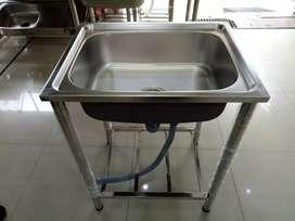 Kitcen sink /bak cuci piring lobang saja Prestile pakai kaki Palembang