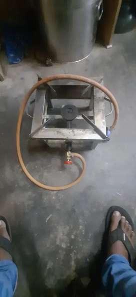 Stainless steel single burner heavy stove