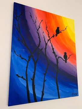 Canvas hand made painting