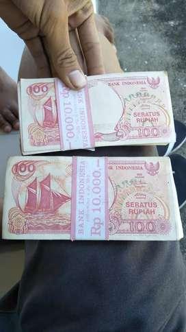 Jual uang pecahan 100 rupiah th 1992