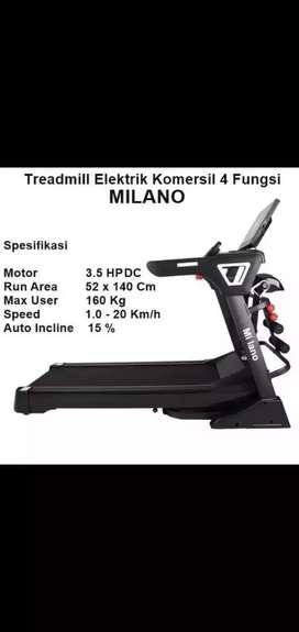 Milano Electric Treadmill 3 Fungsi big baru