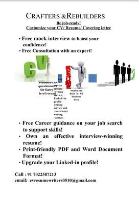 Customize your CV / Resume /Covering letter and Spoken English classes