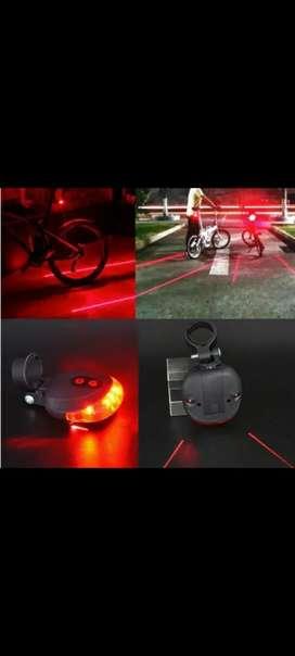 Lampu belakang sepeda gowes malam laser line