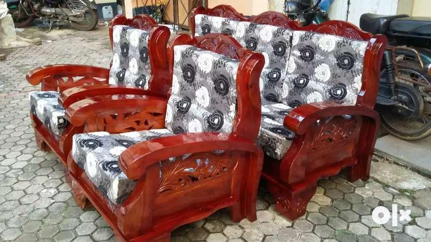Wooden sofa set 0