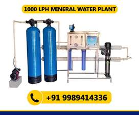 1000 LPH RO Mineral Water Plant (1 Year Manufacturer Warranty)