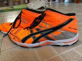 Sepatu voli asics gel forza orange