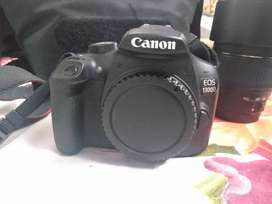 Canon 1300d with kit lens and tamron telephoto lens
