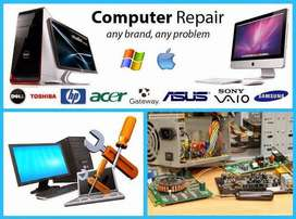 Computer laptop on site service and support