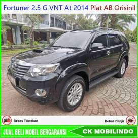 Fortuner 2.5 G VNT At 2014 Plat AB Orisinil Bisa Kredit