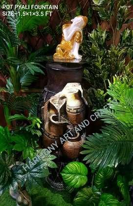 Fiber unbreakable pot table water fountain