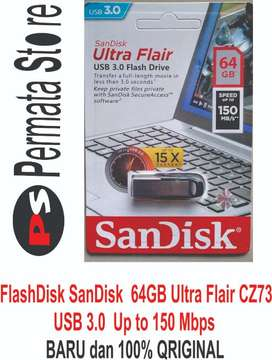 FlashDisk SanDisk 64GB Ultra Flair CZ73 USB 3.0 Up to 150MB/s