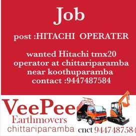 Hitachi operator