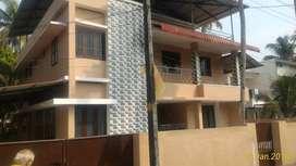 HOUSE FOR RENT IN KOLLAM NEAR Tirumullavaram, BANK EMPL PREFERRED