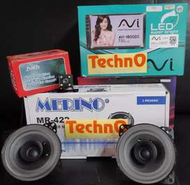Tv mobil mp4 youtube mirrorlink USB + kamera + speaker for paket sound