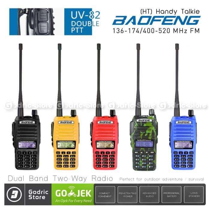 Baofeng Walkie Handy Talkie (HT) UV82/UV-82 Two-Way UHF/VHF Radio - BL 0