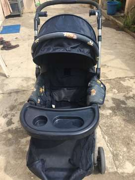Baby pram, blue colour, had bought 2 years before