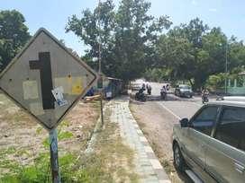 Dijual, tanah pinggir jalan raya, dekat simpang lima gerung 1275 m2
