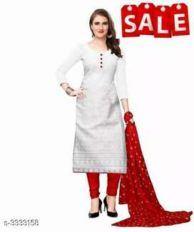 Alisha White attractive cotton kurti set