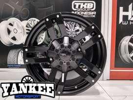 Velg Mobil Fortuner Ring 18 model BULDOZER HSR Wheels Black