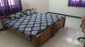 King size bed with springTek foam mattress in excellent condition