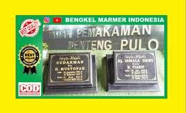 Papan Batu Nisan Nama TPU MENTENG PULO Kuburan Makam Granit Marmer Cor