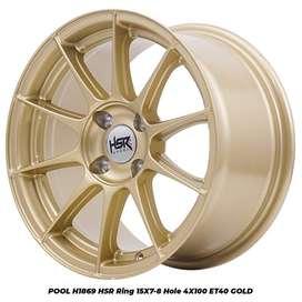 POOL 1869 HSR R15X7/8 H4X100 ET40 GOLD