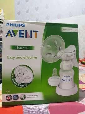 Pompa ASI manual AVENT free 3 botol kaca PAX