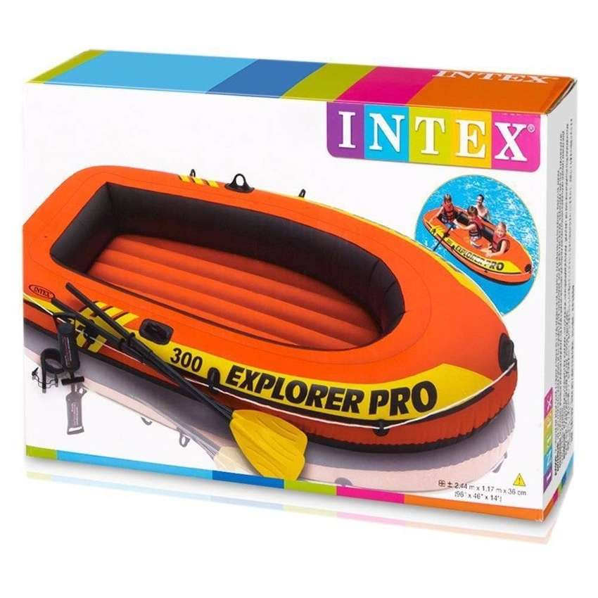 Intex Explorer Pro 300 Set Inflatable Boat with Oars and Pump 58358NP