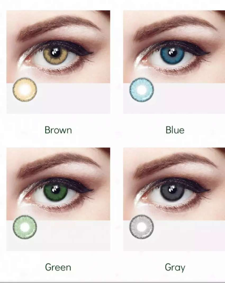 Soft Contact Lenses Makeup Eye Lens Make up 3 Shaded unisex Free Kit 0