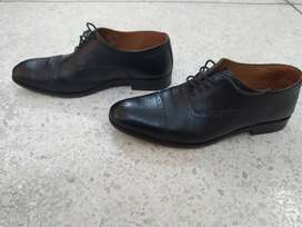 Handmade leather formal Oxford shoes, size 44