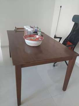 Dinning table only. No chairs. Good quality wood. 3yrd old.