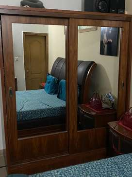 Wardrobe with Double Mirrors sliding doors