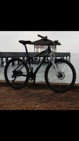 sepeda polygon xtrada 4 brake hidrolic hitam mulus istimewa