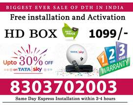 TATA SKY is available in India at lowest prices ;