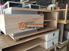meja tv panjang 100 cm model simpel minimalis