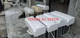 Terima AC seken berbagai merek dan jasa servis AC.