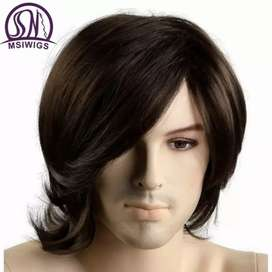 Wigs For Men Synthetic Hairs