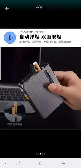 20 cigarettes case with lighter