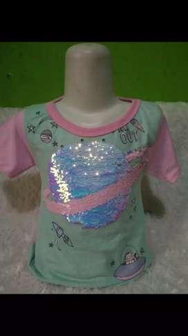 Baju anak sequin,di usap