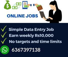 Part time / Full time jobs. Work from home. Earn daily 1000