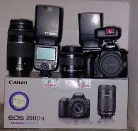 Canon 200d mark ii full kit