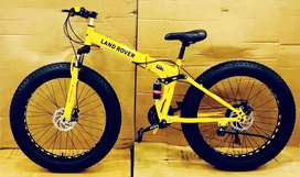 Land rover fat tyre folding cycle with shimano 21 gears