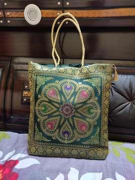 Banarasi Silk Toe bag