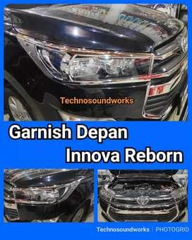 Garnish Depan lampu depan innova Reborn isi 2 pcs hitam or chrome