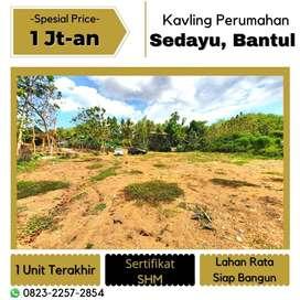 Tanah Strategis Sedayu Bantul Lahan Datar, Sertifikat SHM