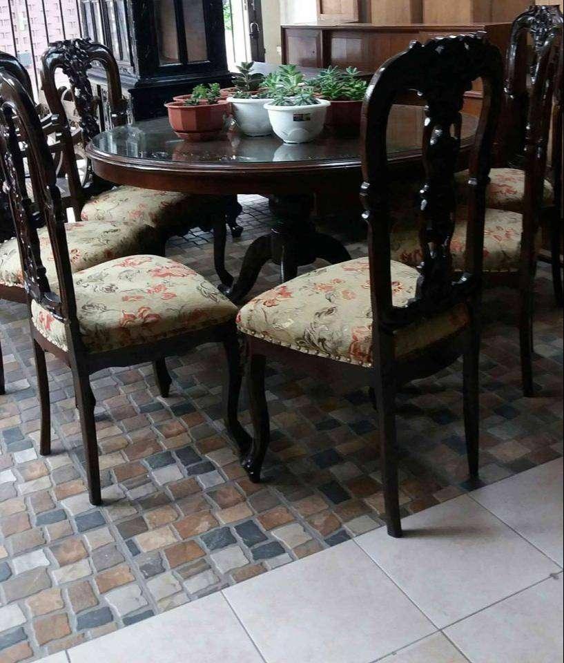 Kursi makan jati jepara 6 person