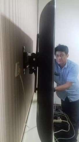bracket tv led lcd untuk penempel gantungan di dinding tembok