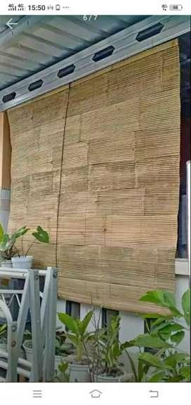 Tirai bambu dan isi bambu dan rotan